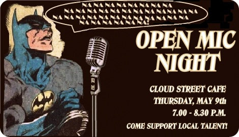 Batman Open Mic Night Flyer