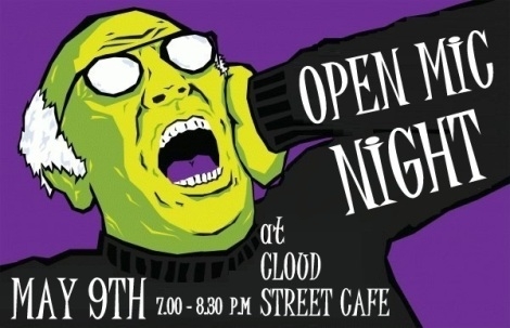 Grandpa Open Mic Night Flyer
