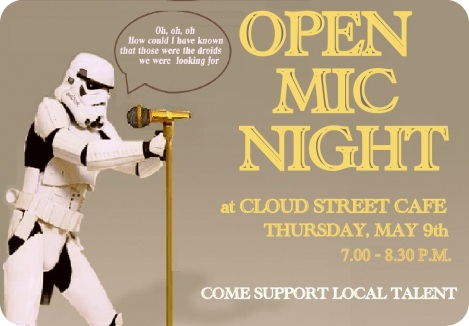 Startrooper Open Mic Night Flyer